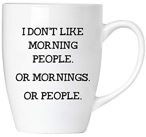 BRUBAKER - I don't like mornings or people - Tasse aus Keramik