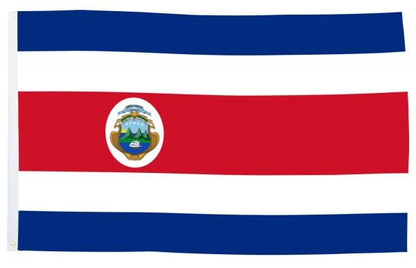 BRUBAKER Hissflagge Costa Rica Fahne Flagge 150 x 90 cm Banner mit Ösen zum Hissen