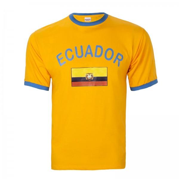 BRUBAKER Herren oder Damen Ecuador Fan T-Shirt Gelb