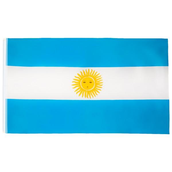 BRUBAKER Hissflagge Argentinien Fahne Flagge 150 x 90 cm Banner mit Ösen zum Hissen