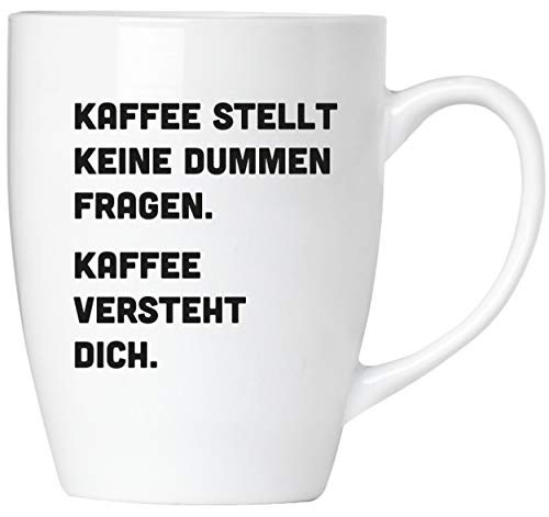 BRUBAKER - Kaffee versteht dich. - Tasse aus Keramik