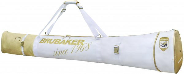 BRUBAKER Carver Pro St. Moritz Skisack für 1 Paar Ski und Stöcke - Weiß Gold - 170 cm