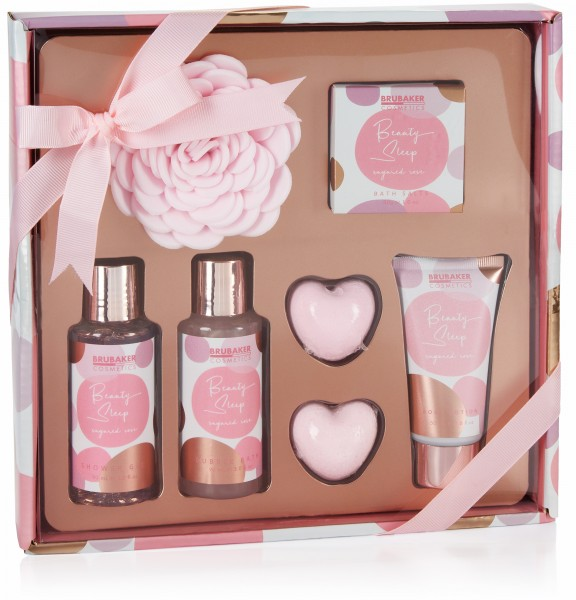 7-tlg. Beauty Geschenk Set Sugared Rose - Rosen Duft