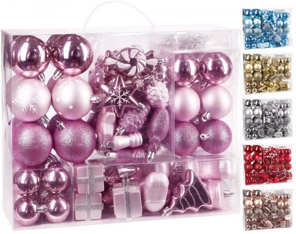 Brubaker 77-teiliges Set Weihnachtskugeln Christbaumschmuck mit Sternen Stiefeln und Tannenzapfen