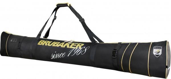 BRUBAKER Grenoble Carver Pro Skisack für 1 Paar Ski und Stöcke - Schwarz Gold