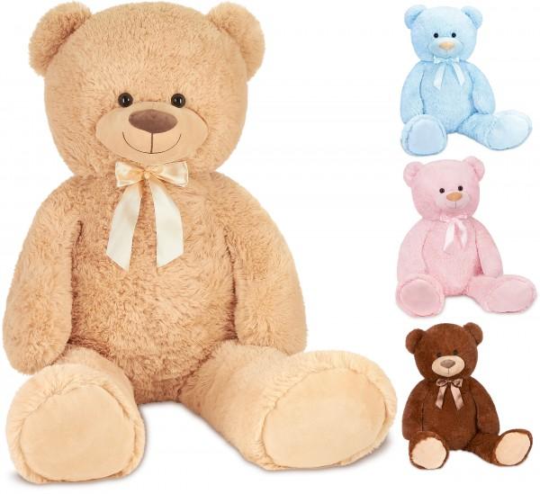 Teddybär mit Schleife 100 cm groß Stofftier Plüschtier Kuscheltier