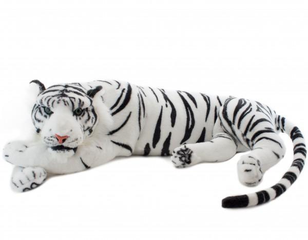 Tiger liegend ruhend weiß 60 cm Stofftier Plüschtier