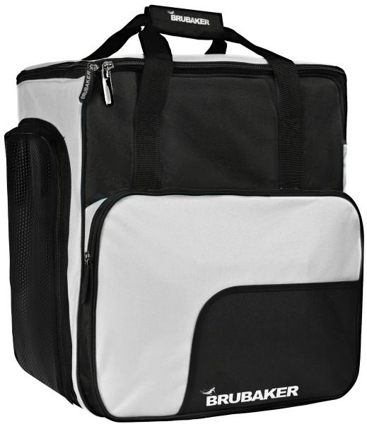 BRUBAKER Super Function Skischuhtasche Helmtasche Rucksack - Schwarz Silber