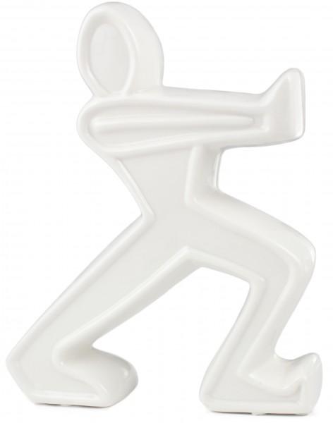 BRUBAKER Buchstütze Keramik Figur weiß 22 cm Höhe