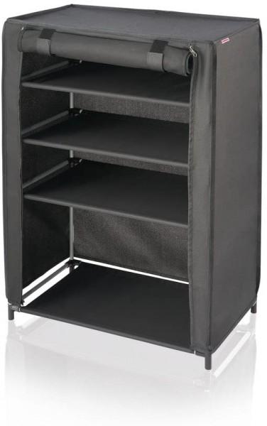 Leifheit Schuhschrank - Stoff - schwarz - 81,5 x 60 x 35 cm