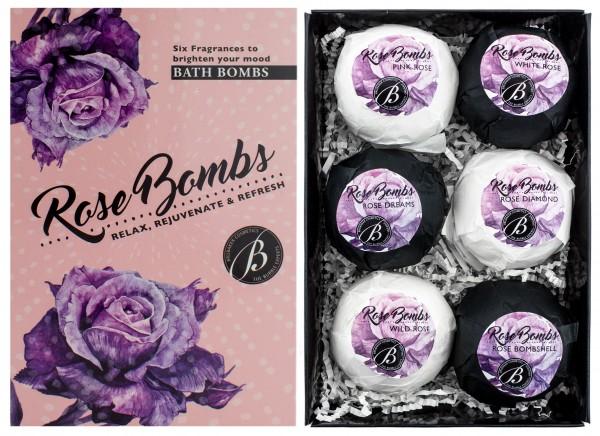 """6 teiliges Badebomben Geschenkset """"Rose Bombs"""" - Handgemacht - Vegan - Glutenfrei - Parabenfrei - mi"""