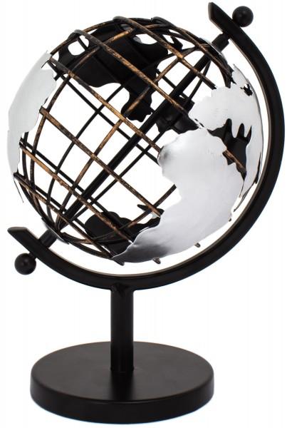 Vintage Gitter Globus - Weltkugel aus Metall
