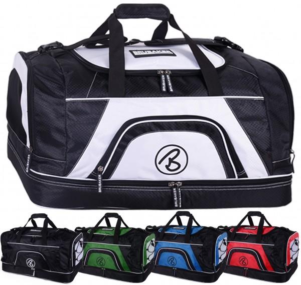 BRUBAKER 'Big Base' XXL Sporttasche 90 L mit großem Nassfach als Bodenfach + Schuhfach