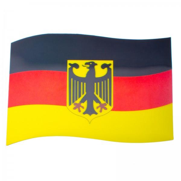 BRUBAKER Auto Magnetflagge Deutschland mit Bundesadler mit 3D-Effekt