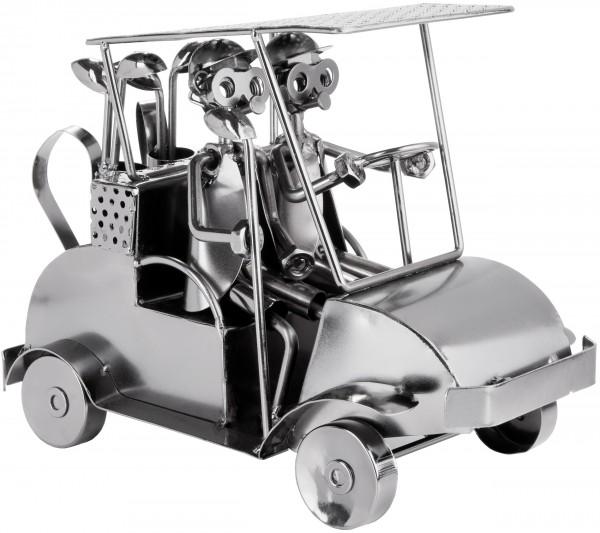 Schraubenmännchen Golfcart - Metallfigur Golf Handarbeit - Geschenkidee für Golfspieler