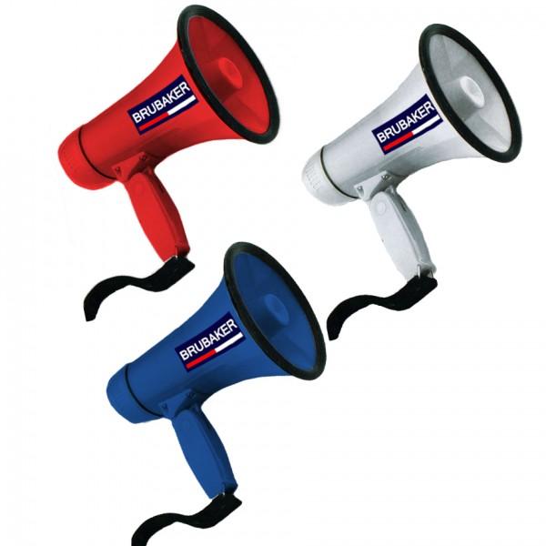 BRUBAKER Megaphon - Funktionen: Sprechen und Sirene - Blau
