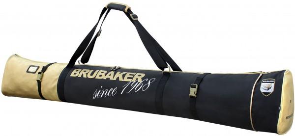 BRUBAKER Carver Pro St. Moritz Skisack für 1 Paar Ski und Stöcke Schwarz Gold