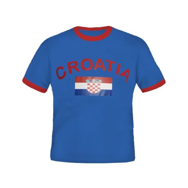 BRUBAKER Herren oder Damen Kroatien Fan T-Shirt Blau