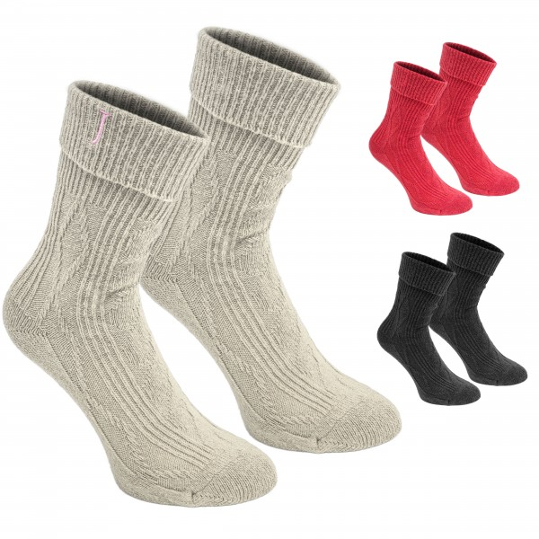 2 Paar Damen Norweger Socken in einer Geschenkbox