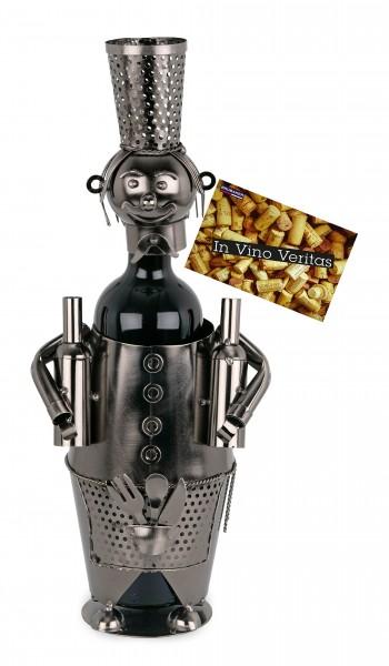 BRUBAKER Flaschenhalter Barkeeper Metall Skulptur Geschenk