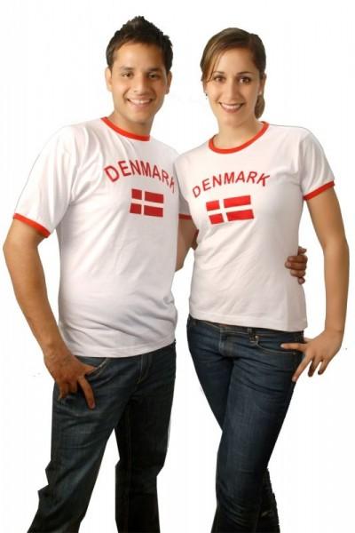BRUBAKER Dänemark Fan T-Shirt Weiß