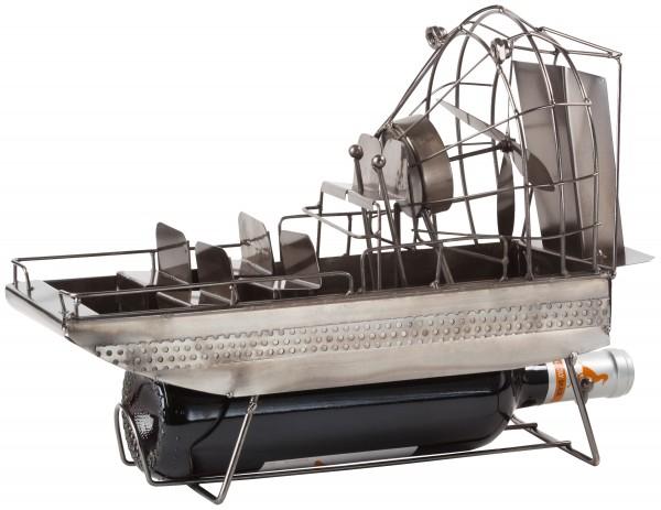 BRUBAKER Flaschenhalter Flugboot Airboat Sumpfboot - Flaschenständer für Wein aus Metal