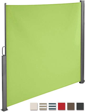 BRUBAKER Seitenmarkise Maui für Balkon und Terrasse - Aluminium - Ausziehbar - 300 x 180 cm