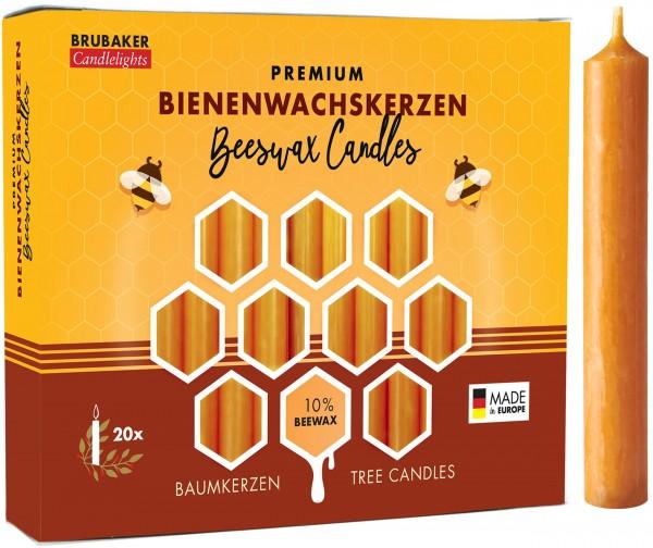 BRUBAKER Baumkerzen Bienenwachs - Weihnachtskerzen - Pyramidenkerzen - Christbaumkerzen