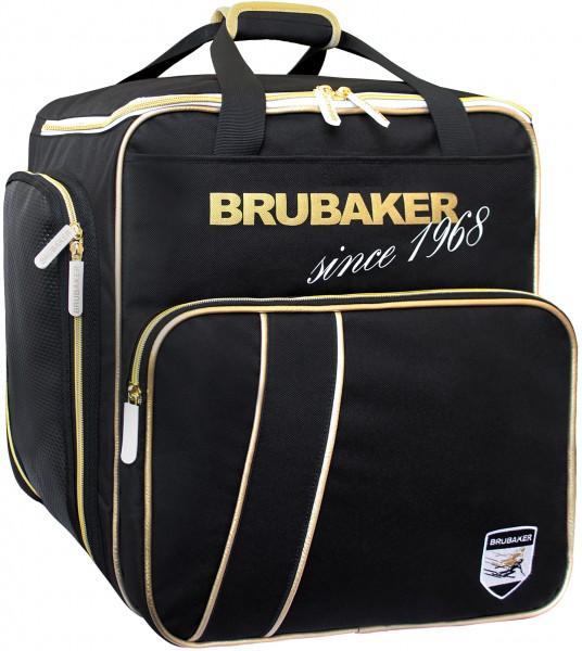 BRUBAKER Grenoble Skischuhtasche Helmtasche Rucksack - Schwarz Gold