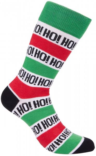 BRUBAKER Weihnachtssocken - Hohoho - One Size (40-45)