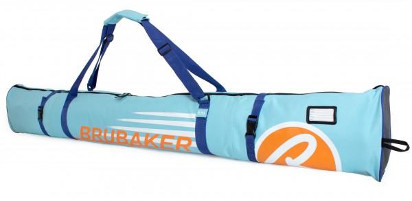 BRUBAKER Skitasche Carver Champion gepolsterter Skisack für 1 Paar Ski und Stöcke 170 cm Hellblau Or