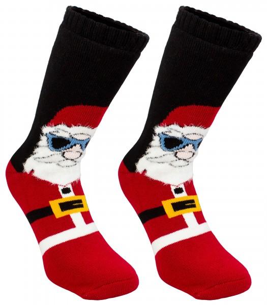 BRUBAKER ABS Weihnachtssocken - Cool Santa - One Size (40-45)