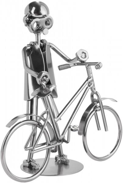 Schraubenmännchen Fahrrad - Metallfigur Handarbeit - Geschenkidee Fahrradfahrer