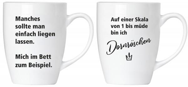 """BRUBAKER """"Dornröschen"""" Tassen Set aus Keramik - Grußkarte und Geschenkpackung"""