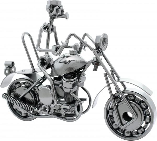 Dekofigur aus Eisen - Chopper Cruiser mit Fahrer - 20 x 13 cm - Handarbeit