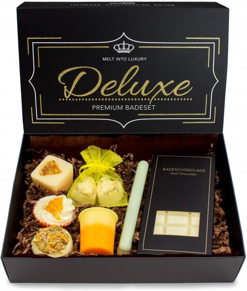 """8 teiliges Bio Badepralinen Geschenkset """"Deluxe Orange Lemon"""" - Vegan - Natürliche Inhaltsstoffe"""
