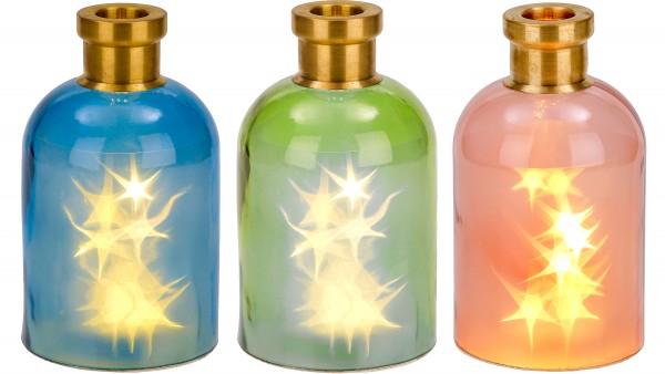 Lichterflasche mit 10 LEDs - Dekoflaschen - Flaschenlicht - 24 cm Höhe