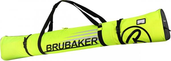BRUBAKER Carver Champion Skitasche für 1 Paar Ski und Stöcke - Neon Gelb / Schwarz