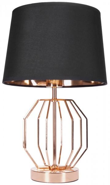 Tisch- oder Nachttischlampe Vintage Gitter Muster - Moderne Tischleuchte - 45 cm Höhe, Gold Schwarz