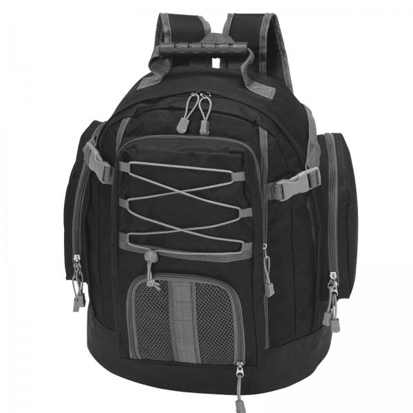 BRUBAKER Freizeit Rucksack Schwarz 30 l für Sport, Camping oder Wandern