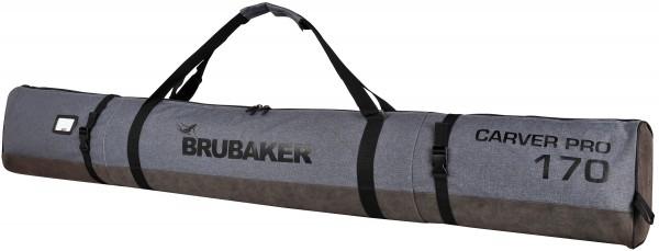 BRUBAKER Carver Performance Skisack für 1 Paar Ski und Stöcke - Schwarz Grau