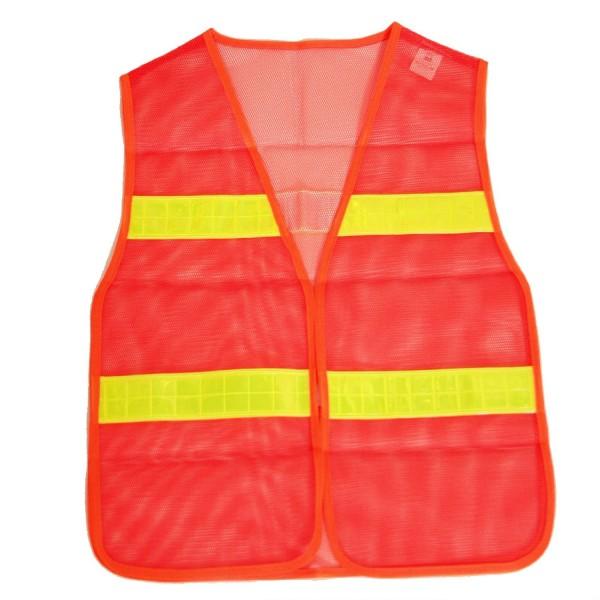 BRUBAKER Sicherheitsweste Orange gemäß DIN Norm EN471