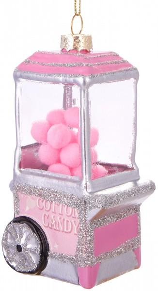 Süßigkeitenwagen - Handbemalte Weihnachtskugel aus Glas - Mundgeblasener Christbaumschmuck - 11 cm