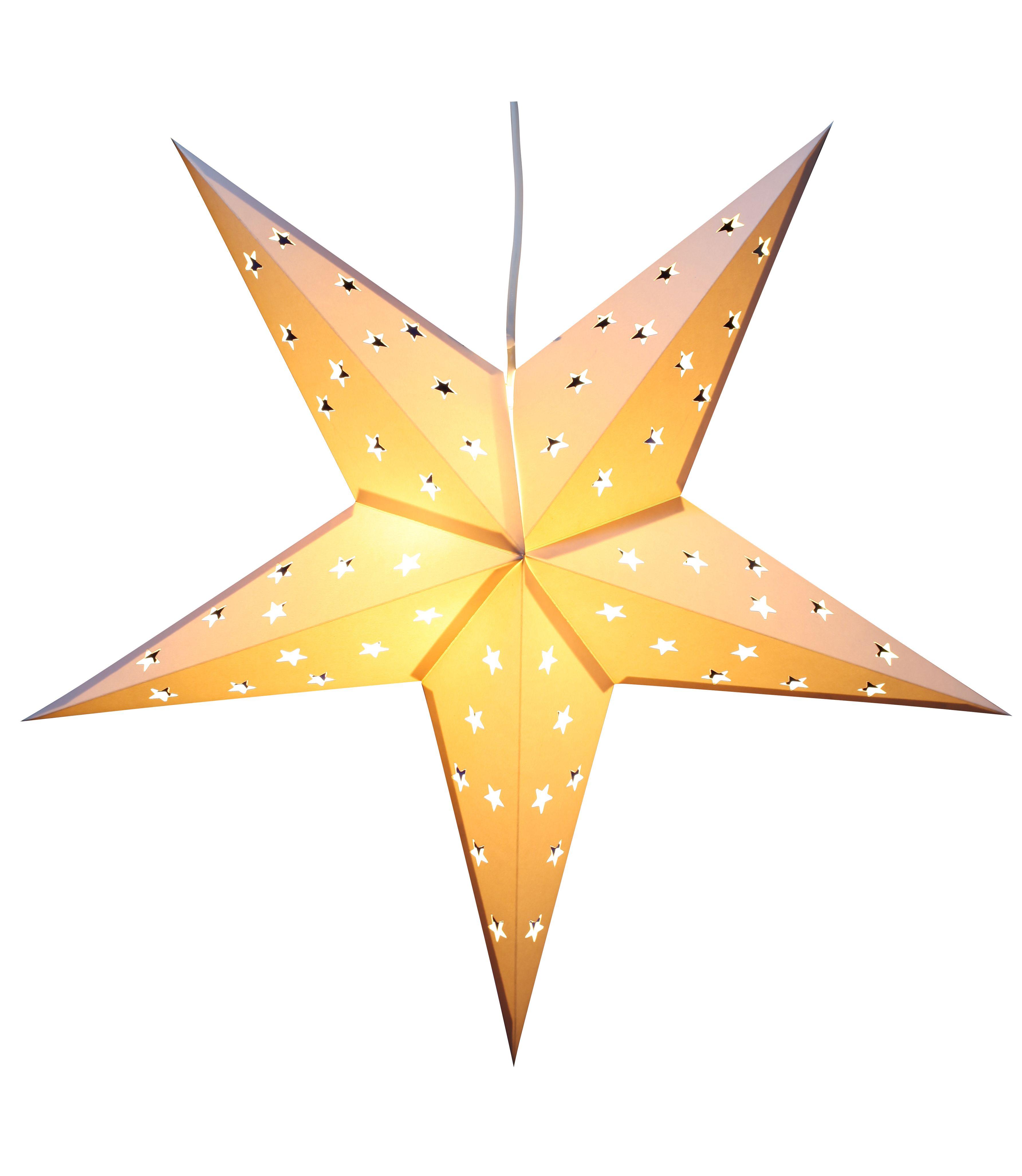 BRUBAKER Falt Weihnachtssterne LED, Fotokarton mit Stern ...