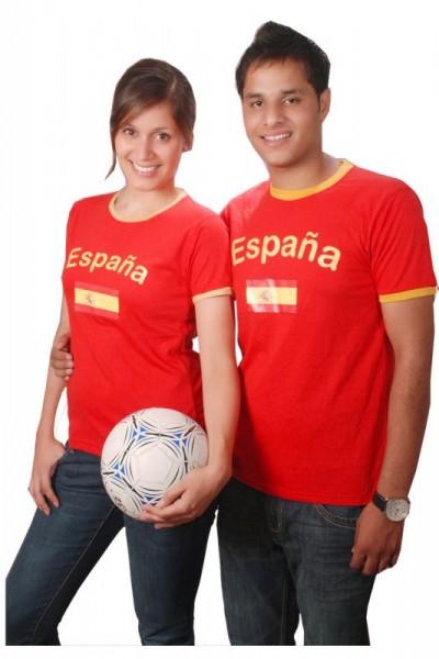 BRUBAKER Spanien Fan T-Shirt Rot