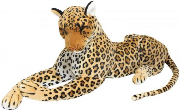 BRUBAKER Plüsch Leopard liegend 110 cm Stofftier Plüschtier