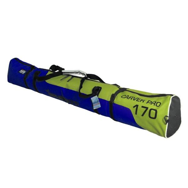 BRUBAKER Carver Pro 2.0 gepolsterte Skitasche mit Zipperverschluss Gelbgrün / Blau 170 cm