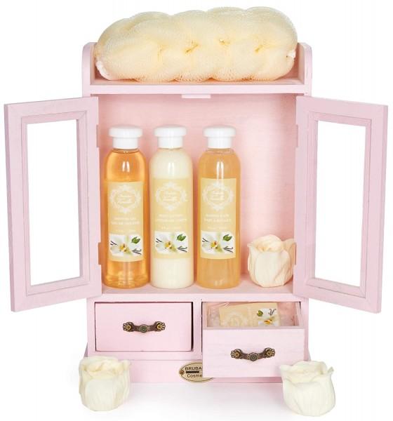 BRUBAKER Cosmetics - 10-teiliges Bade- und Pflege Set - im Beauty-Schrank Rosa