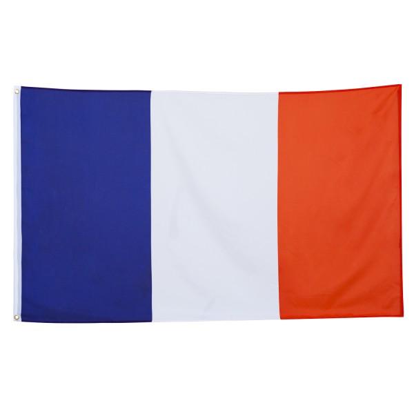 BRUBAKER Hissflagge Frankreich Fahne Flagge 150 x 90 cm Banner mit Ösen zum Hissen