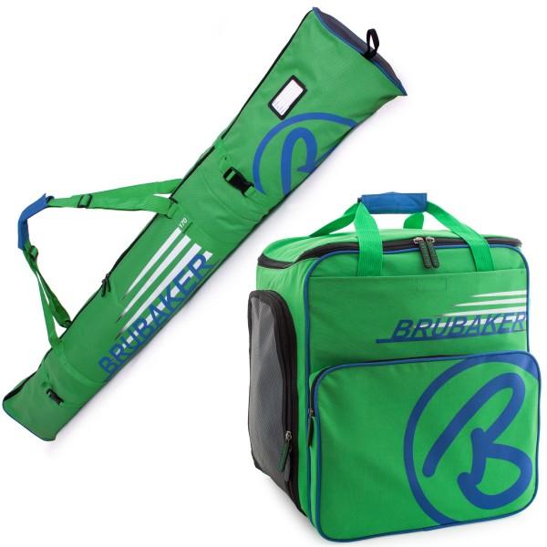 BRUBAKER Kombi Set CHAMPION - Limited Edition - Skisack und Skischuhtasche für 1 Paar Ski bis 170 cm